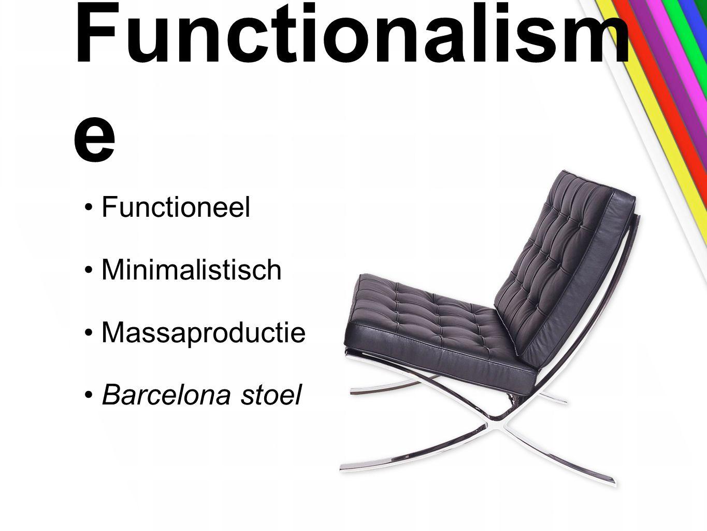 Functionalisme Functioneel Minimalistisch Massaproductie