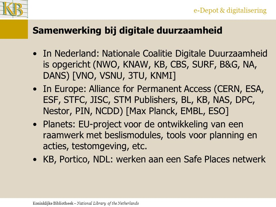 Samenwerking bij digitale duurzaamheid