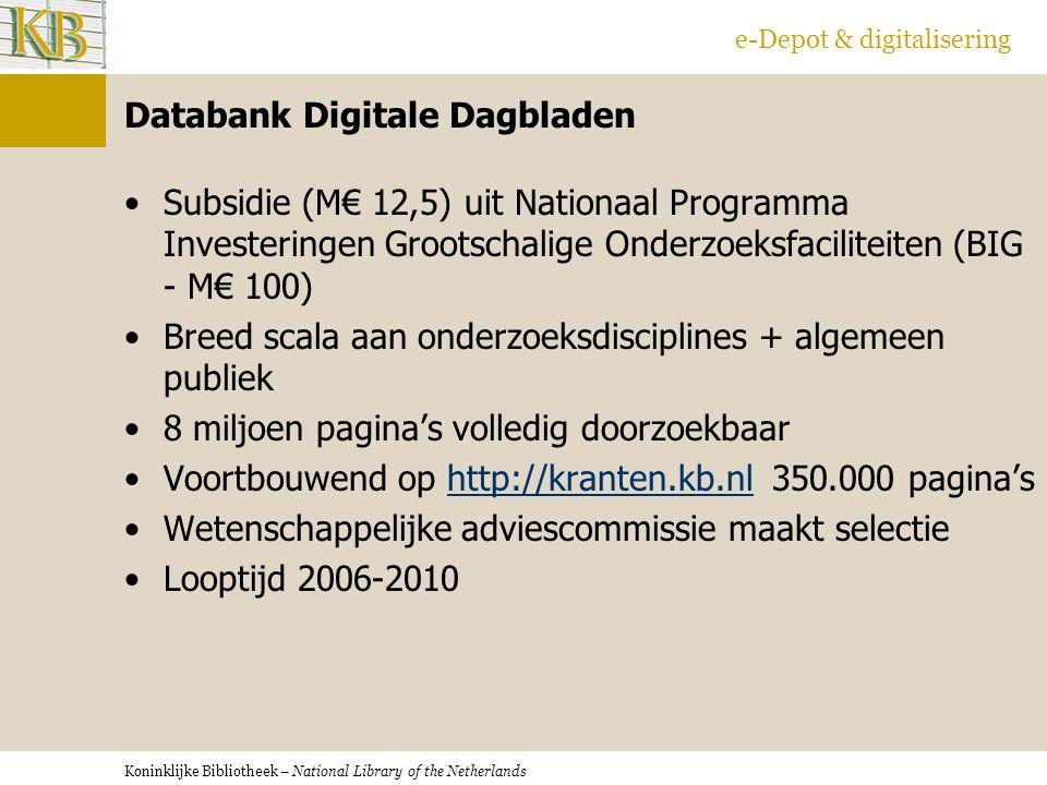 Databank Digitale Dagbladen