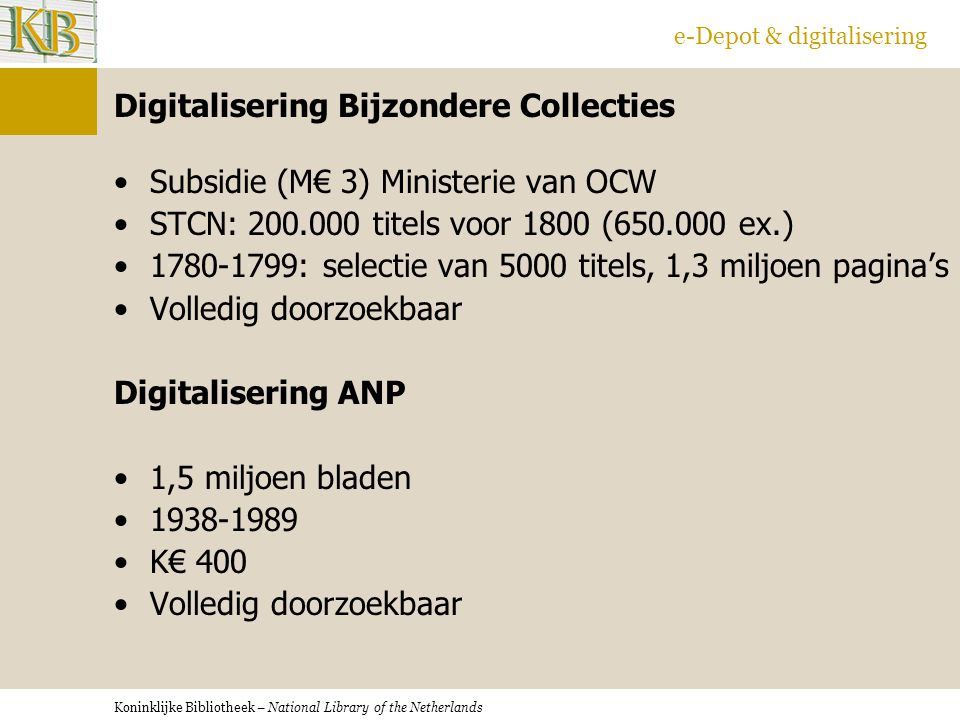Digitalisering Bijzondere Collecties