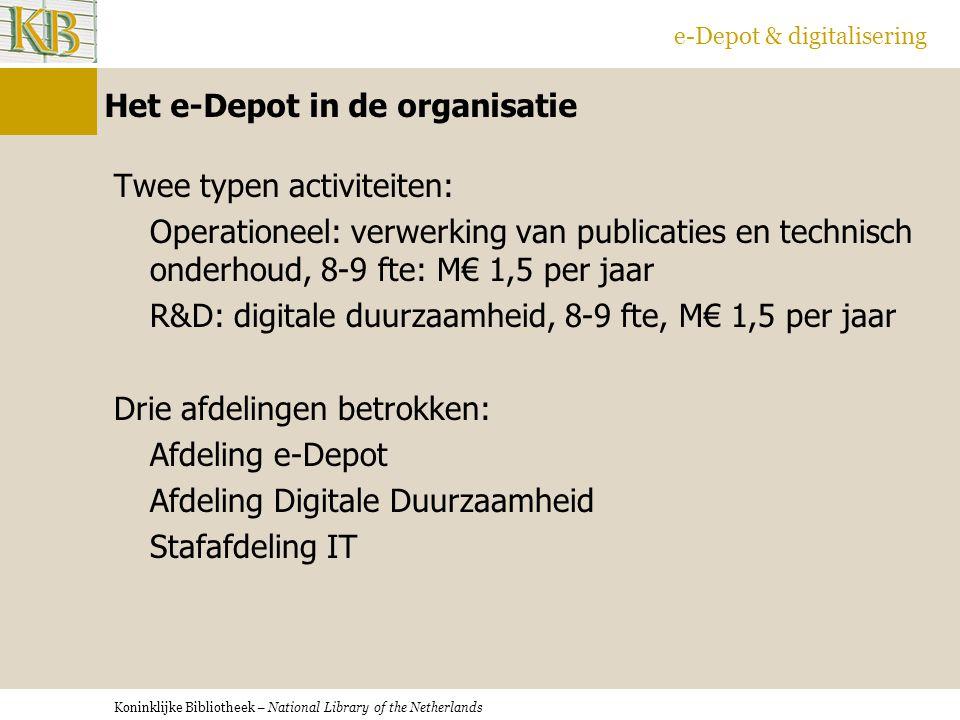 Het e-Depot in de organisatie