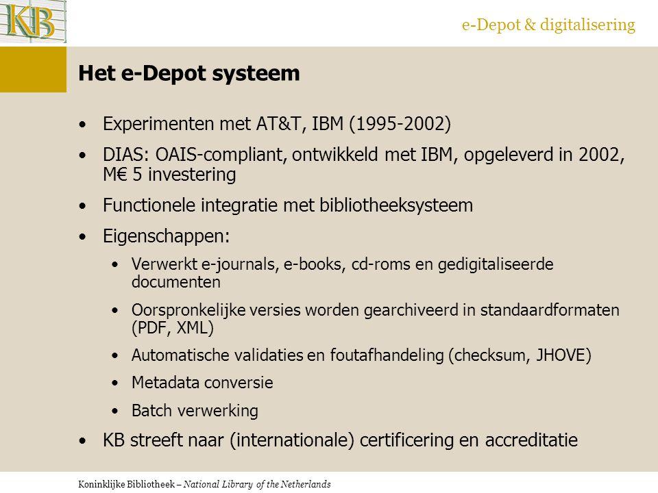 Het e-Depot systeem Experimenten met AT&T, IBM (1995-2002)