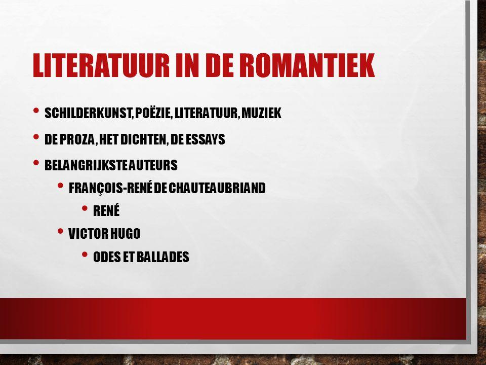 Literatuur in de romantiek