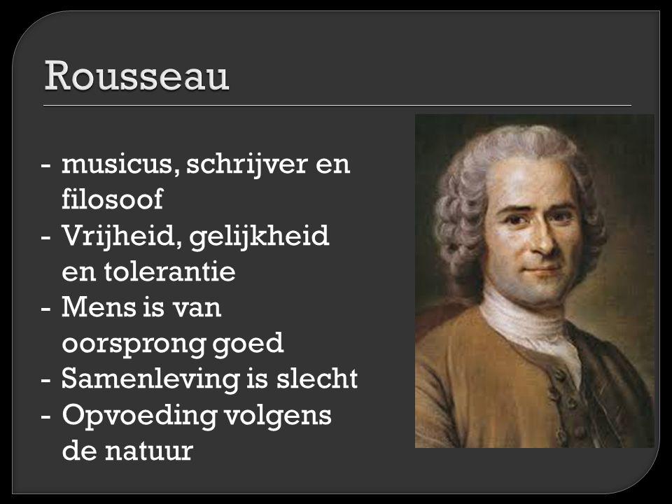 Rousseau musicus, schrijver en filosoof