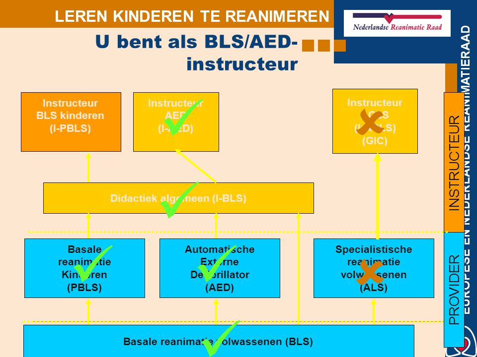 U bent als BLS/AED-instructeur