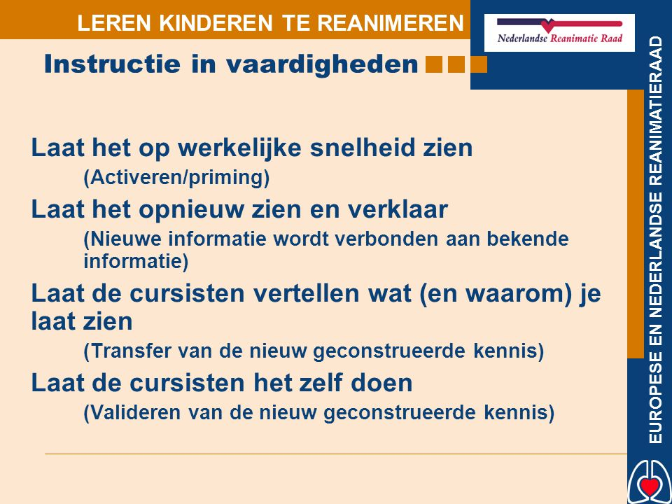 Instructie in vaardigheden
