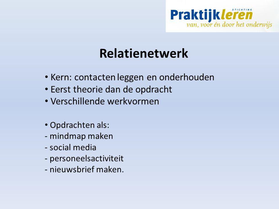 Relatienetwerk Kern: contacten leggen en onderhouden