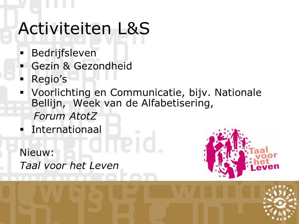 Activiteiten L&S Bedrijfsleven Gezin & Gezondheid Regio's