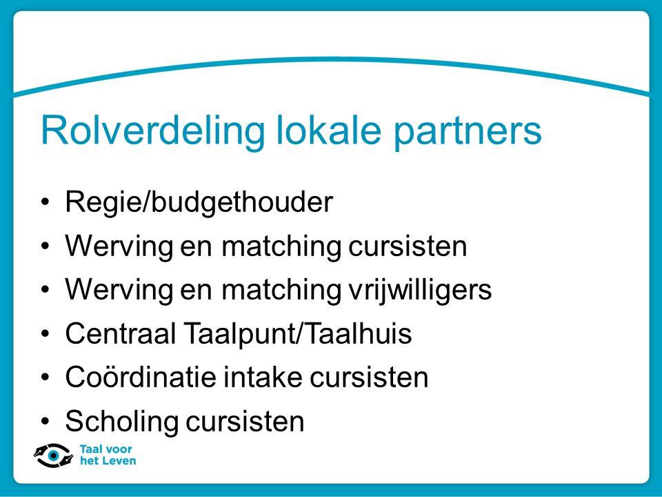 Rolverdeling lokale partners