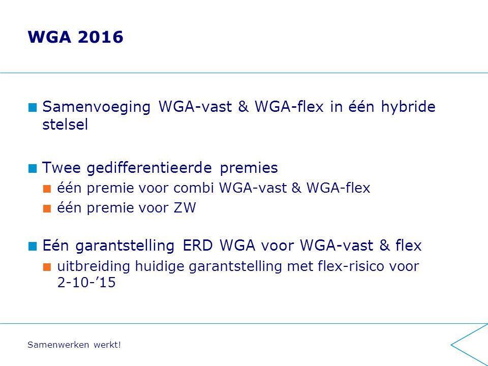 WGA 2016 Samenvoeging WGA-vast & WGA-flex in één hybride stelsel