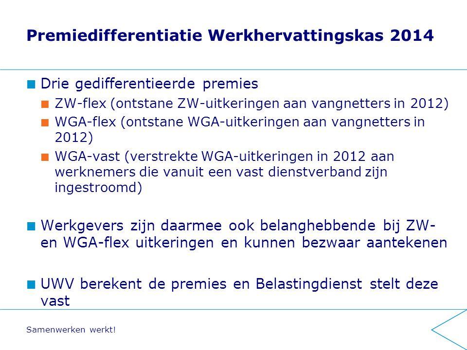 Premiedifferentiatie Werkhervattingskas 2014