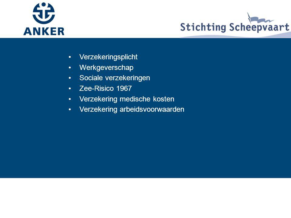 Verzekeringsplicht Werkgeverschap. Sociale verzekeringen. Zee-Risico 1967. Verzekering medische kosten.