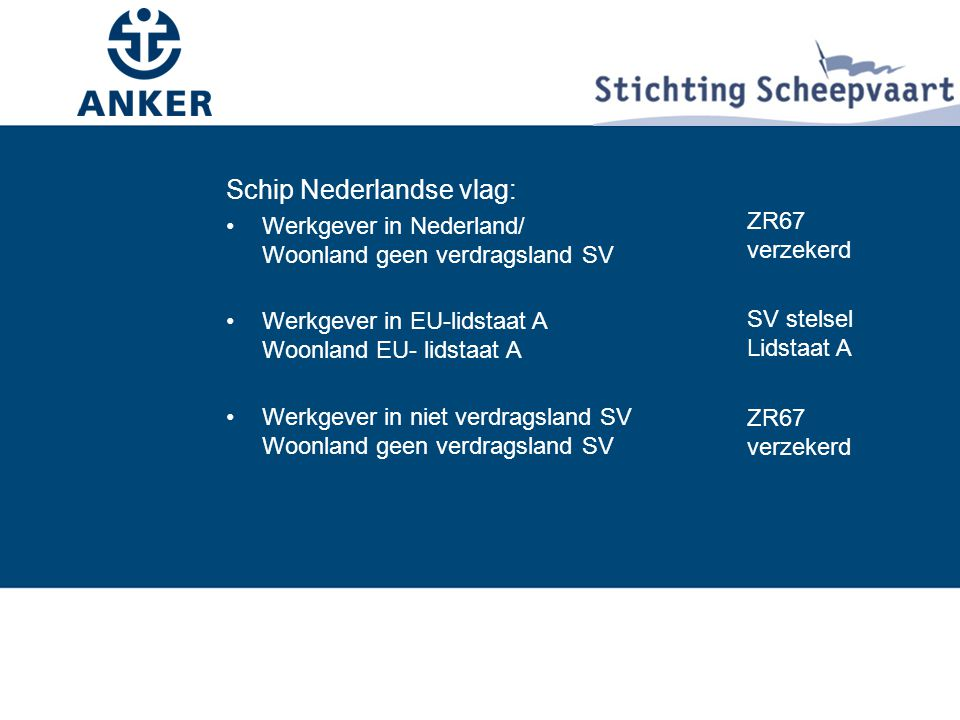 Schip Nederlandse vlag: