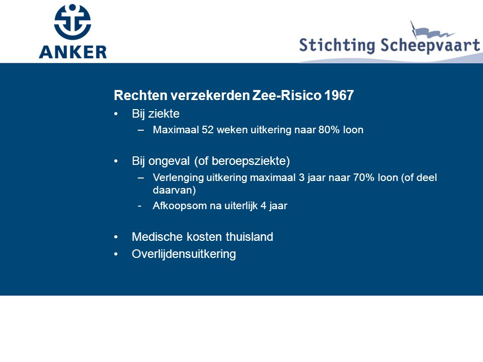 Rechten verzekerden Zee-Risico 1967