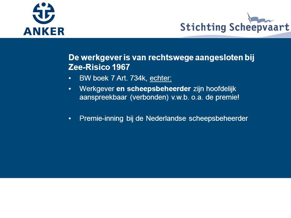De werkgever is van rechtswege aangesloten bij Zee-Risico 1967