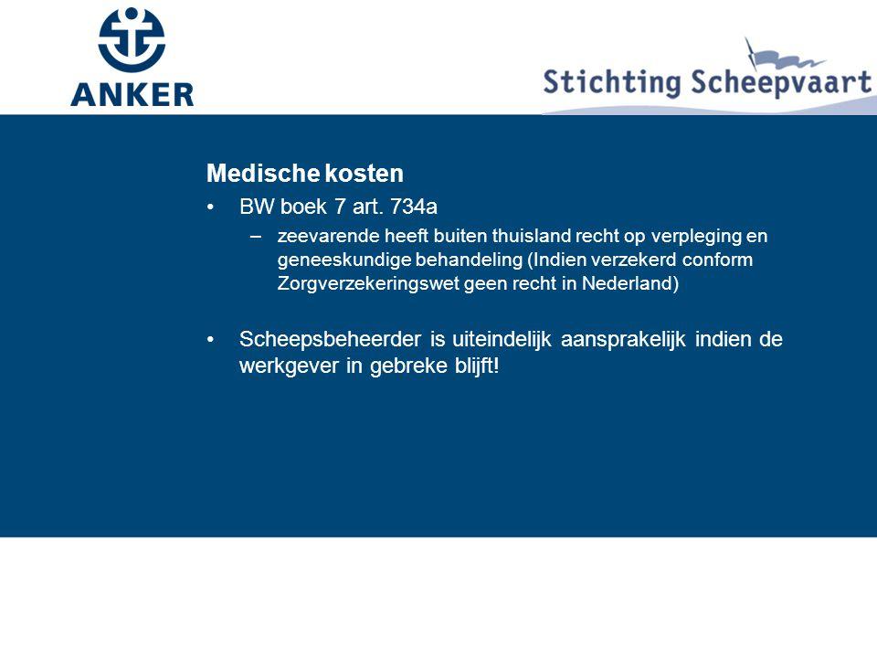 Medische kosten BW boek 7 art. 734a