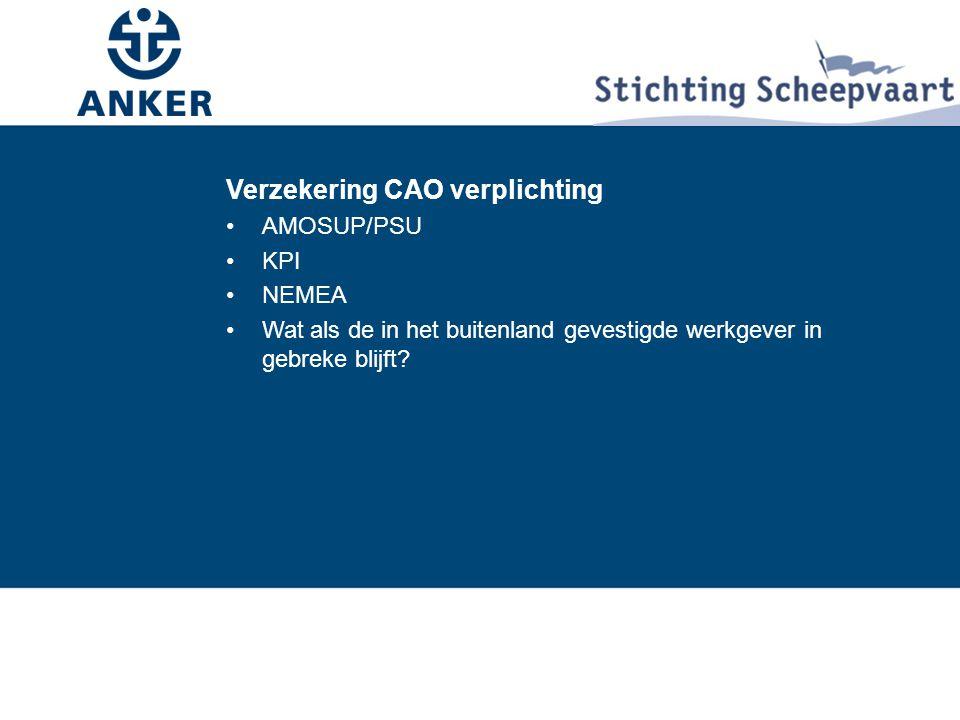 Verzekering CAO verplichting