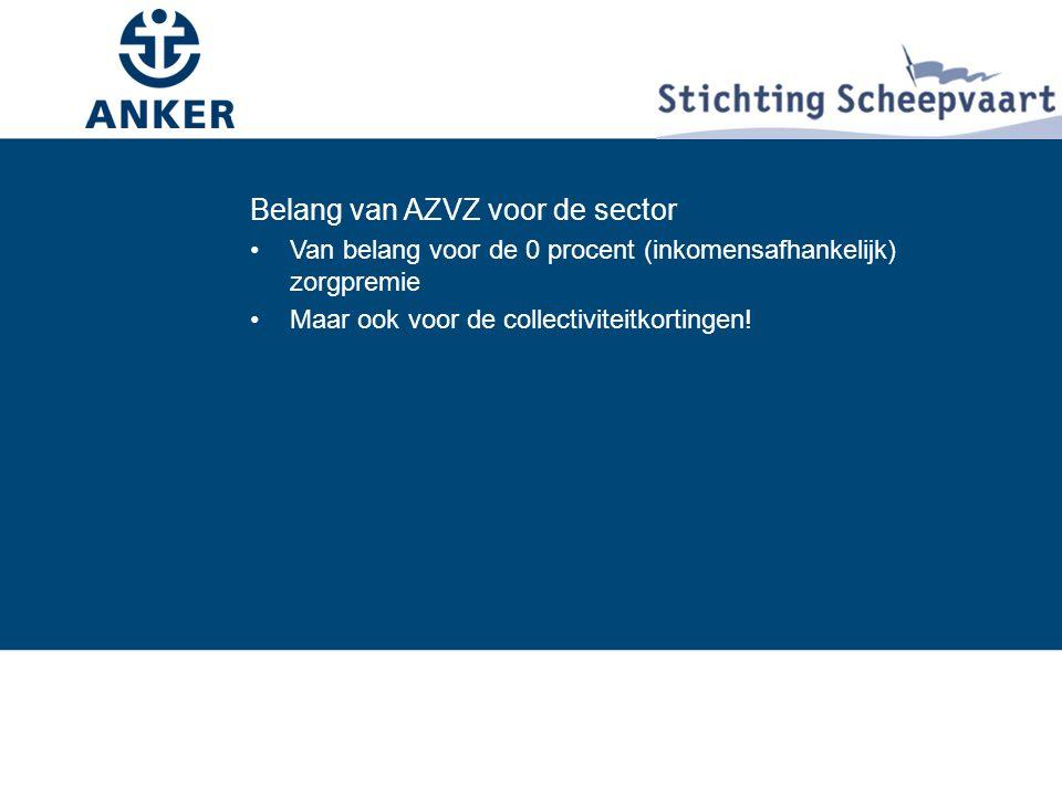 Belang van AZVZ voor de sector