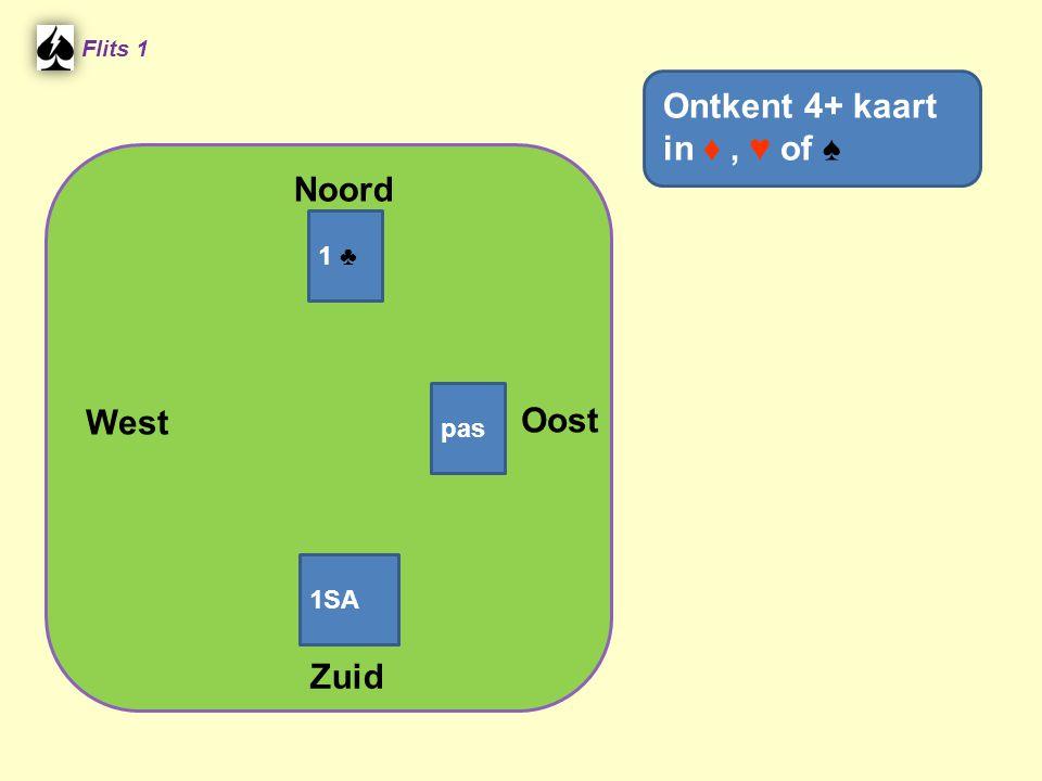 Ontkent 4+ kaart in ♦ , ♥ of ♠