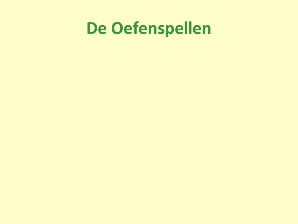 De Oefenspellen