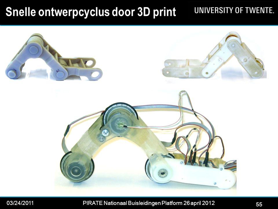 Snelle ontwerpcyclus door 3D print