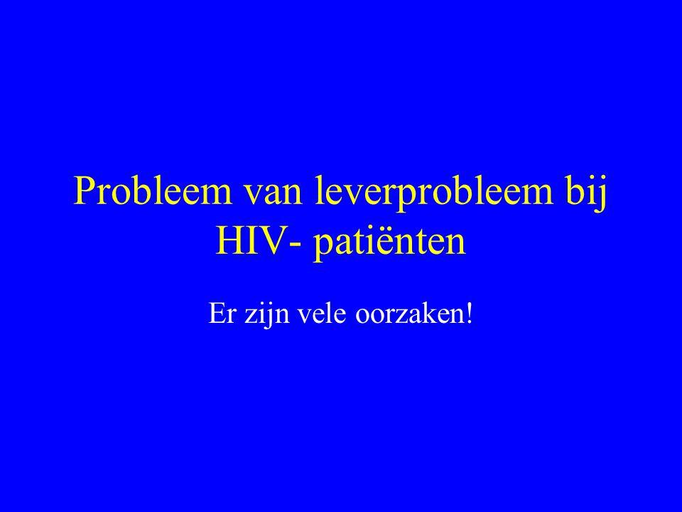 Probleem van leverprobleem bij HIV- patiënten