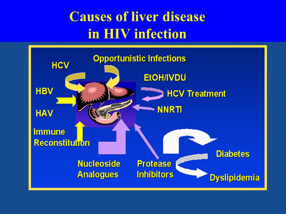 Causes of liver disease in HIV infection