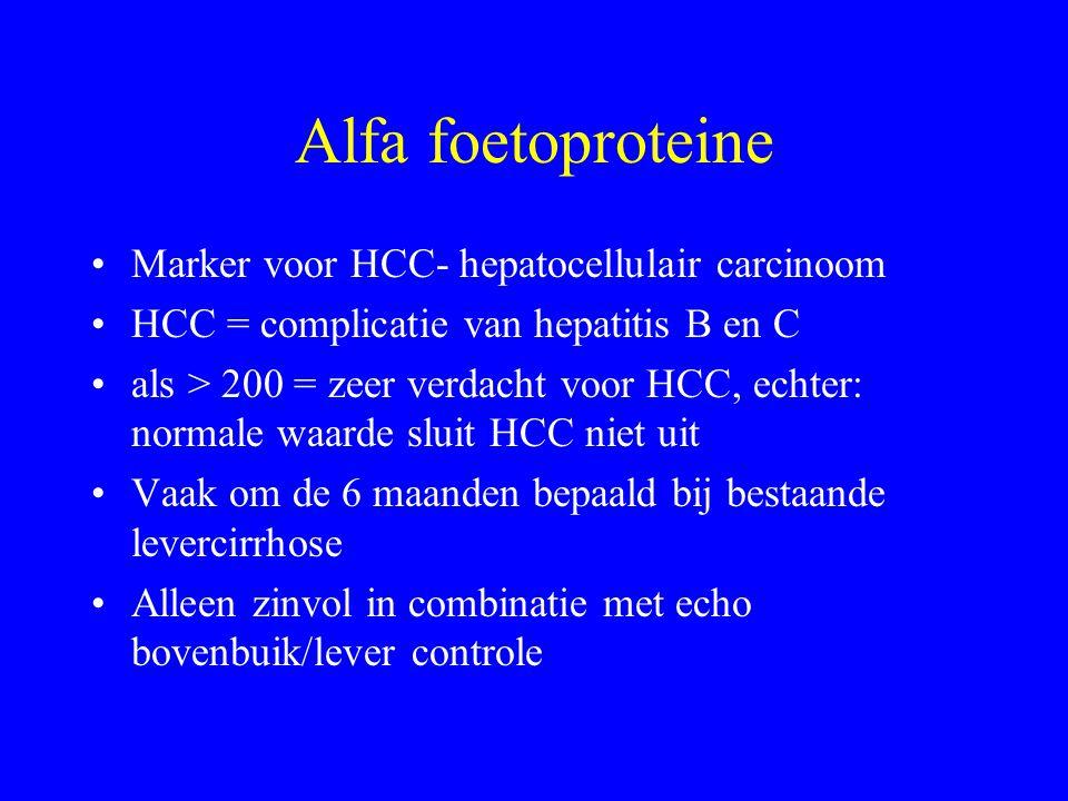 Alfa foetoproteine Marker voor HCC- hepatocellulair carcinoom