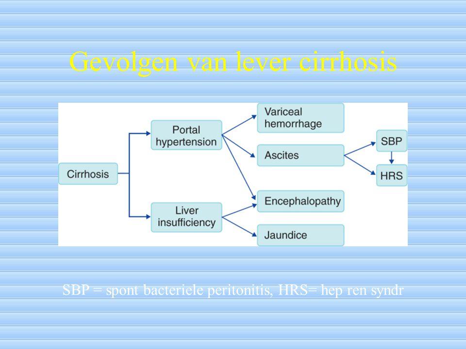 Gevolgen van lever cirrhosis