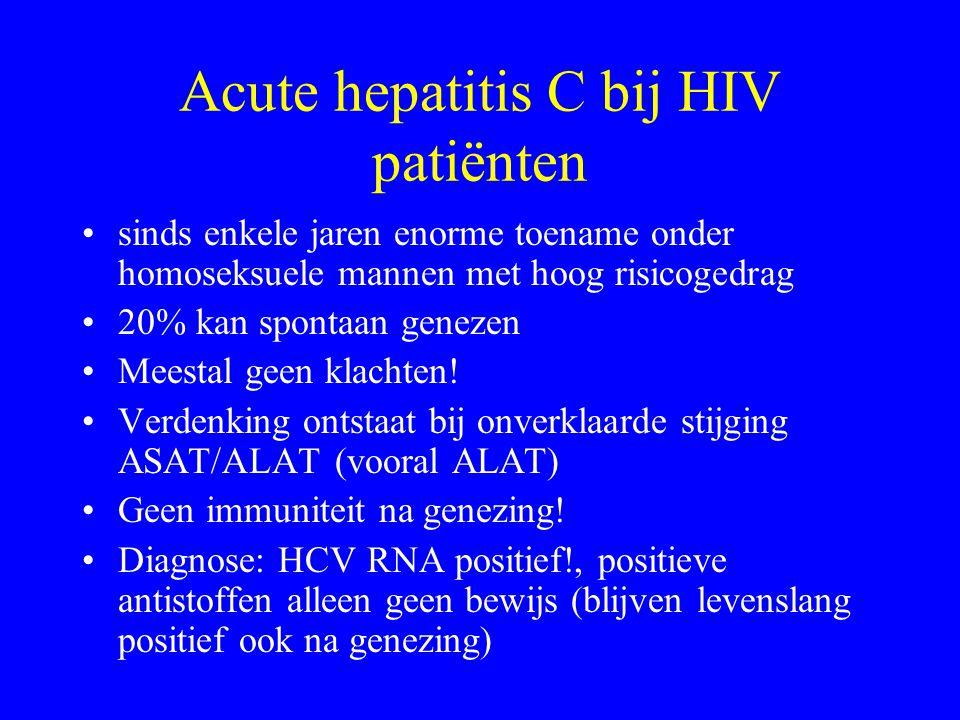 Acute hepatitis C bij HIV patiënten