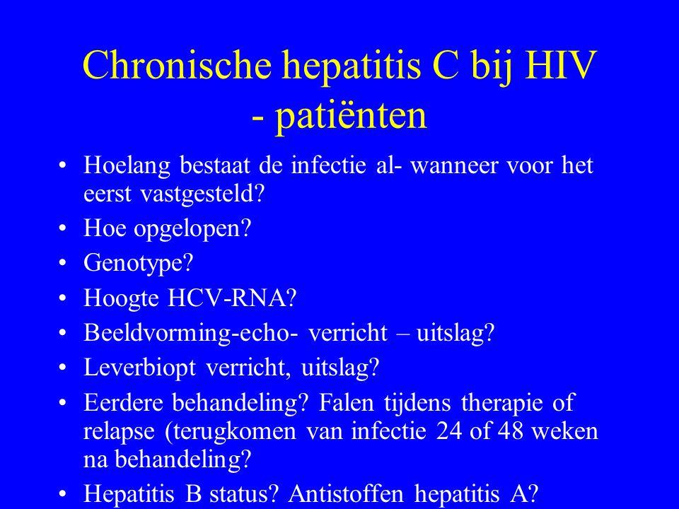 Chronische hepatitis C bij HIV - patiënten