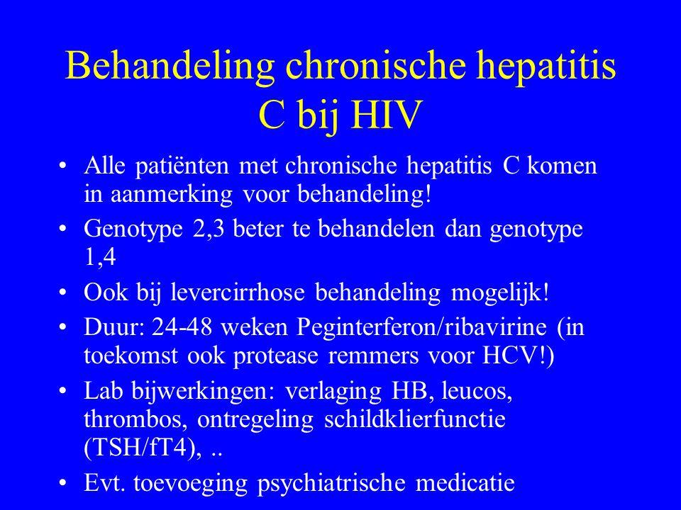 Behandeling chronische hepatitis C bij HIV