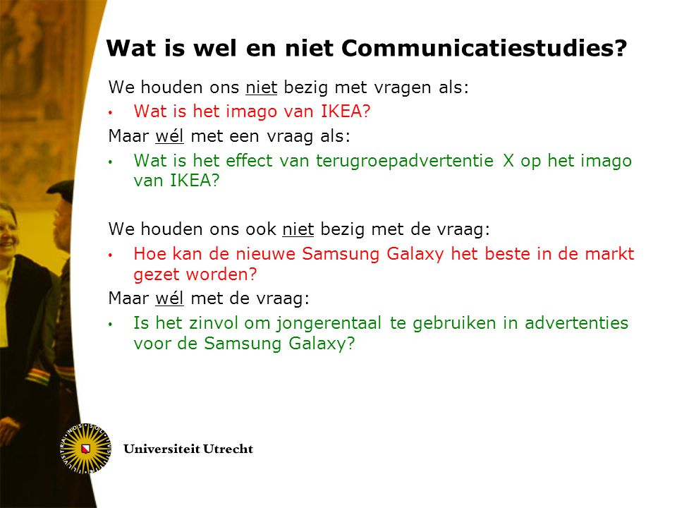 Wat is wel en niet Communicatiestudies