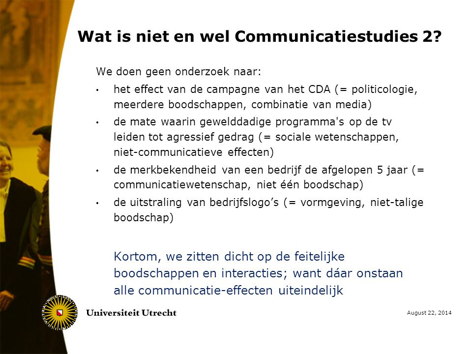 Wat is niet en wel Communicatiestudies 2