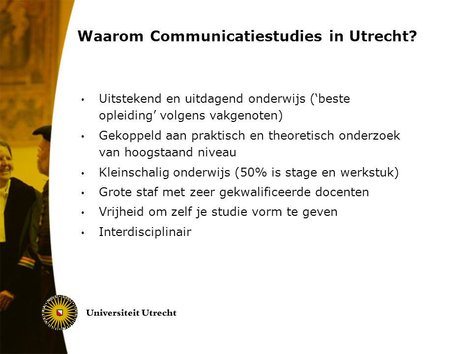 Waarom Communicatiestudies in Utrecht