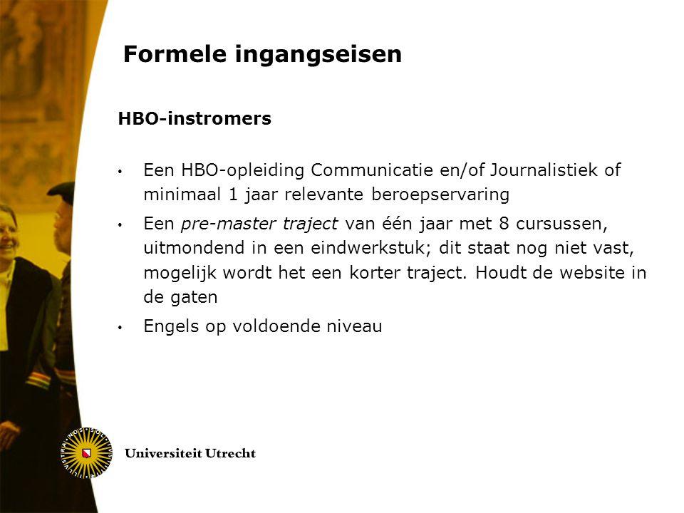 Formele ingangseisen HBO-instromers