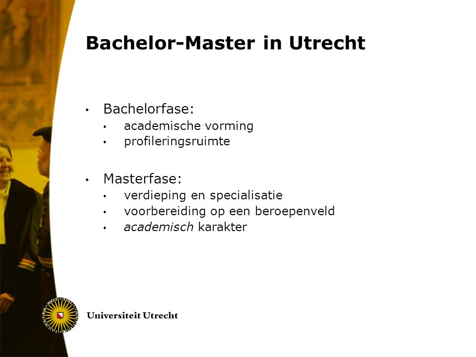 Bachelor-Master in Utrecht