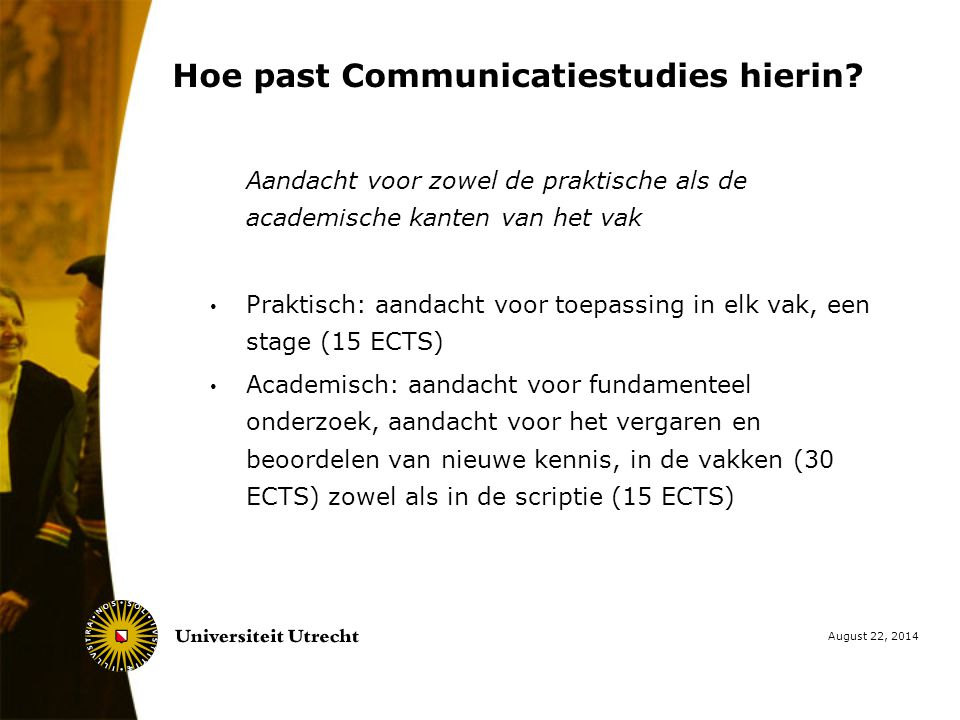 Hoe past Communicatiestudies hierin