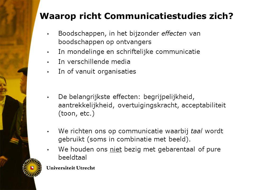Waarop richt Communicatiestudies zich