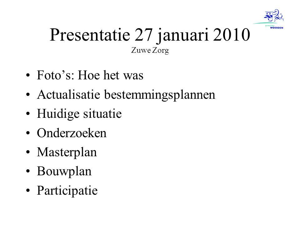 Presentatie 27 januari 2010 Zuwe Zorg