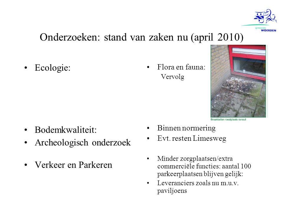 Onderzoeken: stand van zaken nu (april 2010)