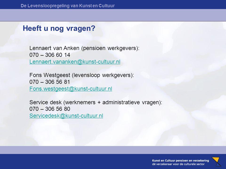 Heeft u nog vragen Lennaert van Anken (pensioen werkgevers):
