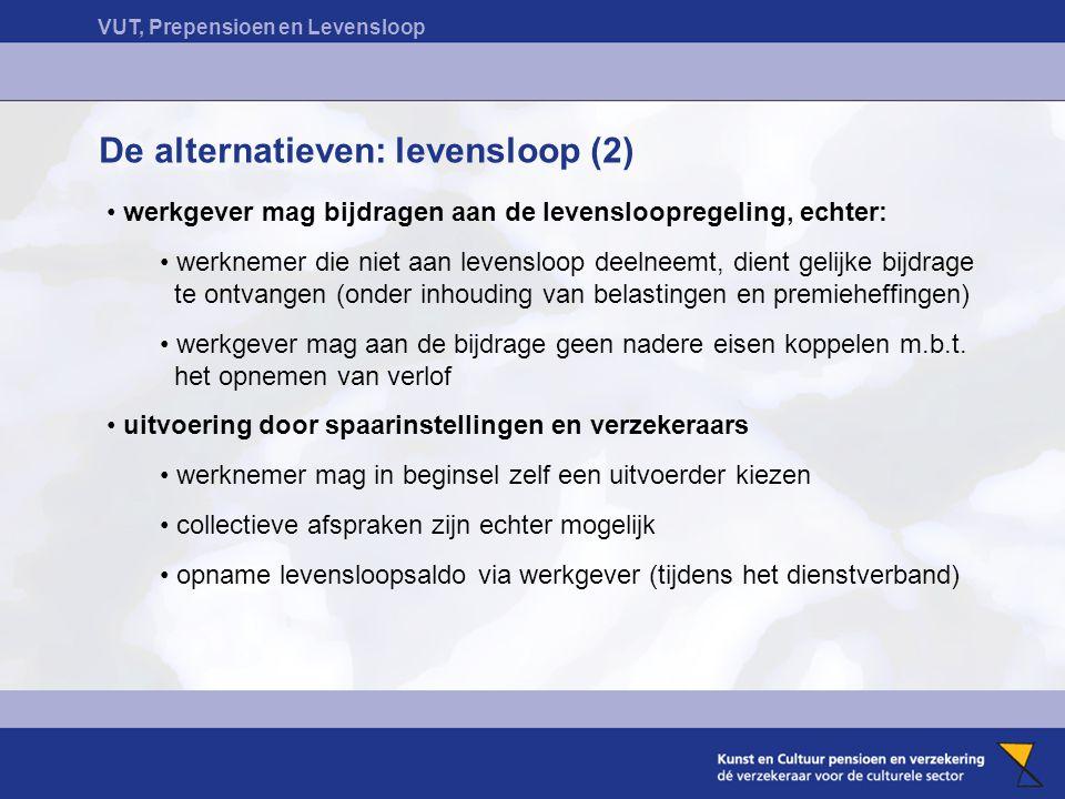 De alternatieven: levensloop (2)