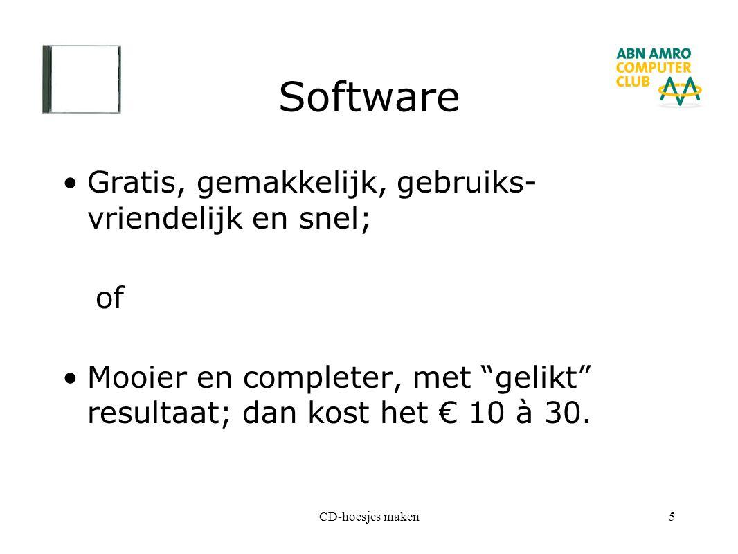 Software Gratis, gemakkelijk, gebruiks-vriendelijk en snel; of