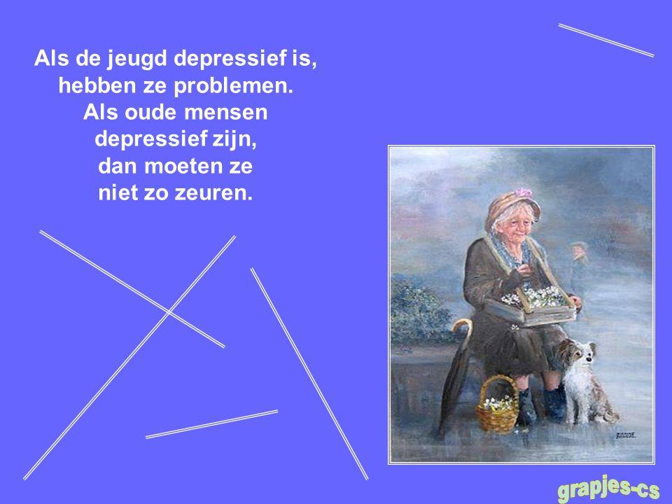 Als de jeugd depressief is, hebben ze problemen.