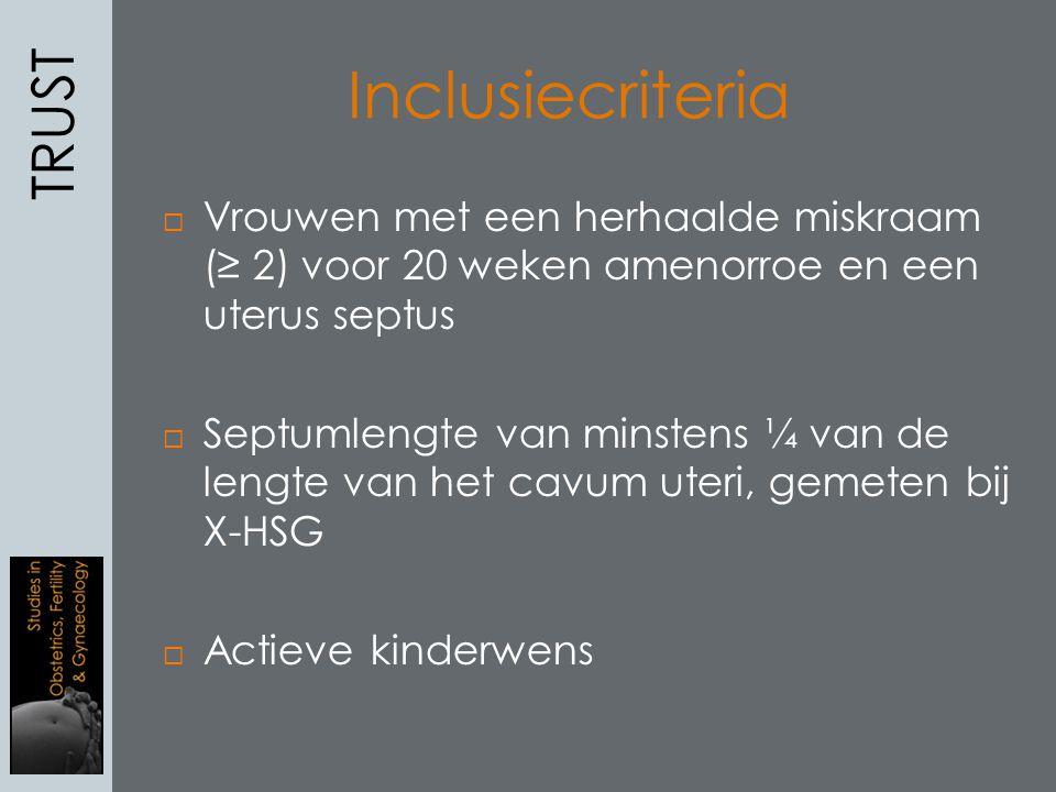 Inclusiecriteria TRUST