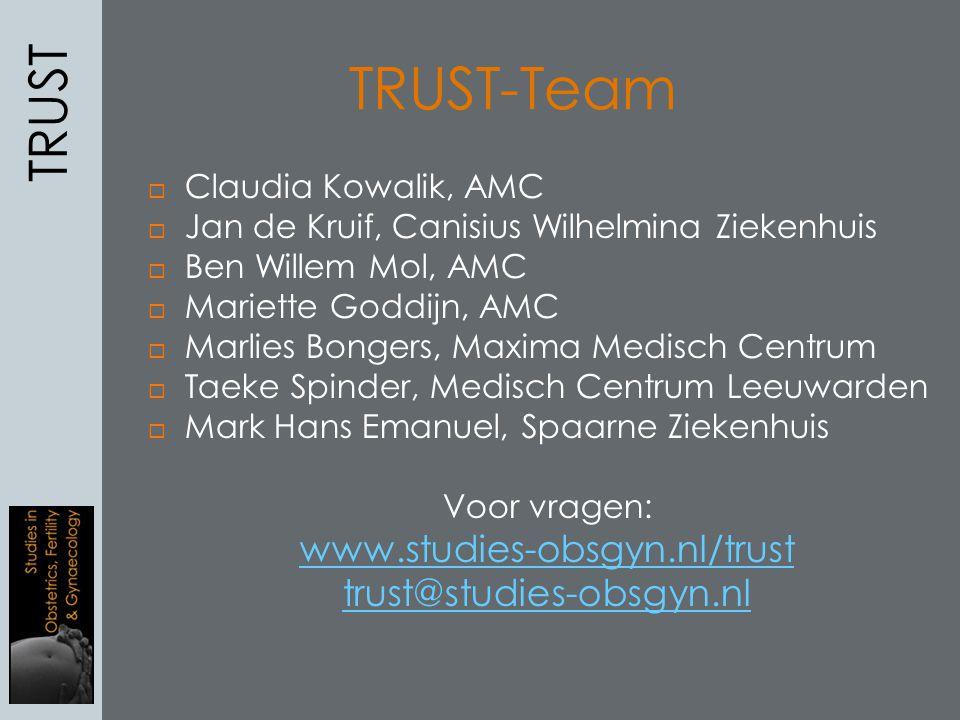 TRUST-Team TRUST www.studies-obsgyn.nl/trust trust@studies-obsgyn.nl