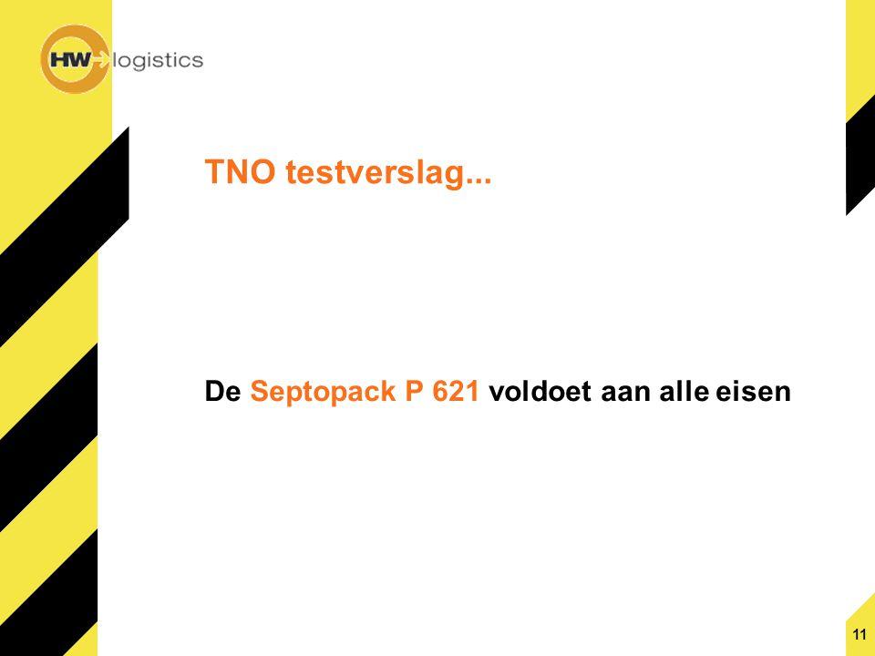 TNO testverslag... De Septopack P 621 voldoet aan alle eisen 11