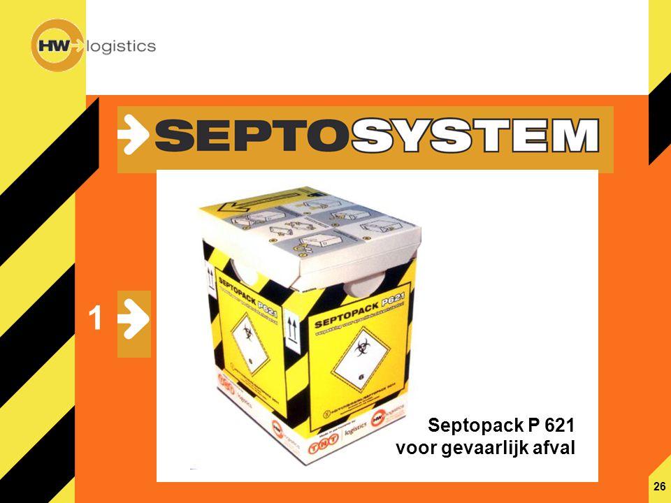 1 Septopack P 621 voor gevaarlijk afval 26