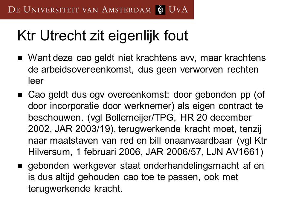 Ktr Utrecht zit eigenlijk fout